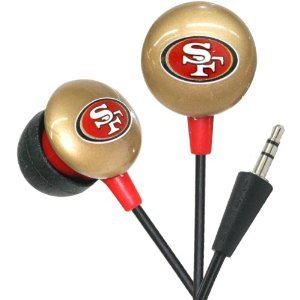 San Francisco 49ers NFL Team Logo iHip Ear buds (iPod, iPad, iPhone Compatible) image