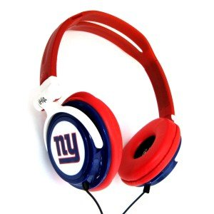 NFL New York Giants iHip Slim DJ Headphones image