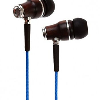 Symphonized NRG Premium Genuine Wood In-ear Noise-isolating Headphones with Mic (Blue) image
