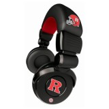 NCAA Rutgers Scarlet Knights Pro DJ Headphones with Microphone thumbnail