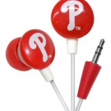 iHip MLF10169PHL MLB Philadelphia Phillies Printed Ear Buds, Blue/Red thumbnail