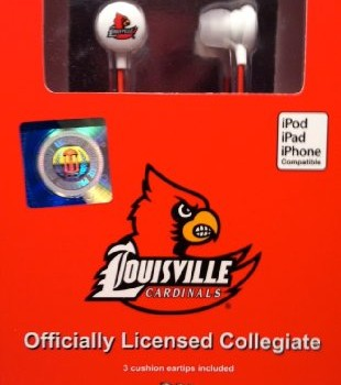 NCAA – Louisville Cardinals iHip Earphones – Ear Buds – Headphones image