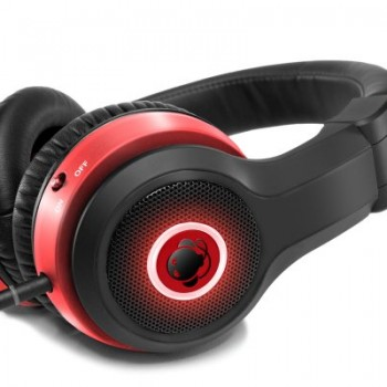 Boomphones Phantom Headphones with Boombox – Black/Red image