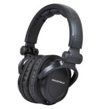 Monoprice 108323 Premium Hi-Fi DJ Style Over-the-Ear Pro Headphone, Black thumbnail