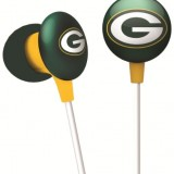 NFL Green Bay Packers IHip Black Box Ear Buds Premium Headphones Licensed! thumbnail