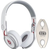 Beats by Dr. Dre Mixr White DJ Headphones Carry Pack with Wire Holder thumbnail