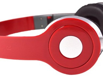 Red 3.5mm Foldable Stereo Headphone Earphone Headset for DJ PSP MP3 MP4 PC image