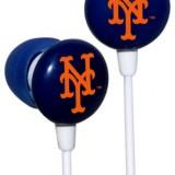 iHip MLF10169NYM MLB New York Mets Printed Ear Buds, Blue/Orange thumbnail
