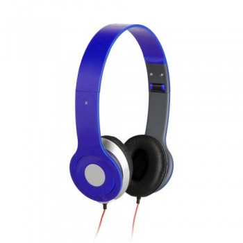 Blue 3.5mm Foldable Stereo Headphone Earphone Headset for DJ PSP MP3 MP4 PC image