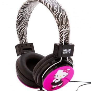 Hello Kitty HK-ZEB-WM Headphones with Zebra Design image