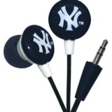 iHip MLF10169NYY MLB New York Yankees Printed Ear Buds, Blue/White thumbnail