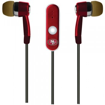 NFL San Francisco 49ers Hands Free Ear Buds with Microphone image