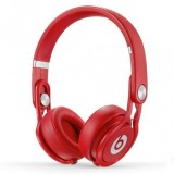 Beats by Dr. Dre Mixr Lightweight Closed Back DJ-Style Headphones (Red) thumbnail