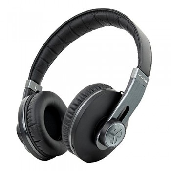 Omni By JLab Premium Folding Bluetooth Wireless Over-Ear Headphone with Mic & Carrying Case, Black Pearl image