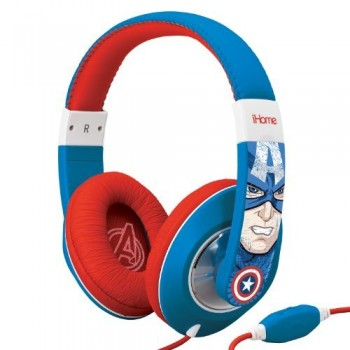 eKids Marvel Avengers Captain America Over Ear Headphones with Volume Control image