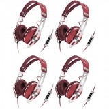 (4) Sennheiser Momentum Closed On-Ear iPod iPhone DJ Headphones w/ Case | Red thumbnail