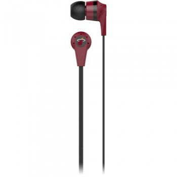Skullcandy Miami Heat Ink'd 2.0 NBA Series Sports Collection Earphones/Earbuds Headphone – Red image