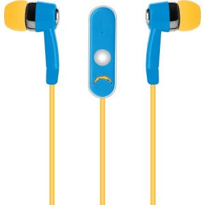 NFL San Diego Chargers Hands Free Ear Buds with Microphone image