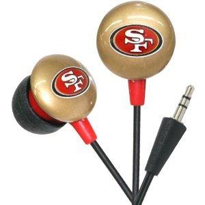 San Francisco 49ers NFL Team Logo iHip Ear buds (iPod, iPad, iPhone Compatible) image