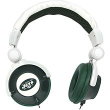 New York Jets Green-White DJ Over-Ear Headphones image