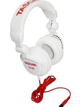 TASCAM TH02-W Closed-Back Stylish Headphone, White image