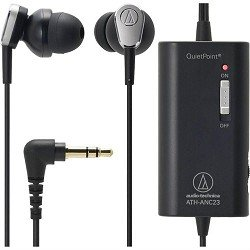 Audio-Technica ATH-ANC23 QuietPoint Active Noise-Cancelling In-Ear Headphones image