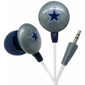 Dallas Cowboys NFL Team Logo iHip Ear buds (iPod, iPad, iPhone Compatible) image