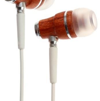 Symphonized NRG Premium Genuine Wood In-ear Noise-isolating Headphones with Mic (White) image