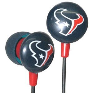Houston Texans NFL Team Logo iHip Ear buds (iPod, iPad, iPhone Compatible) image