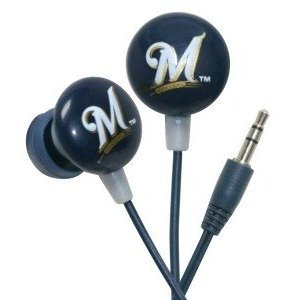 Milwaukee Brewers MLB Team Logo iHip Ear buds (iPod, iPad, iPhone Compatible) image
