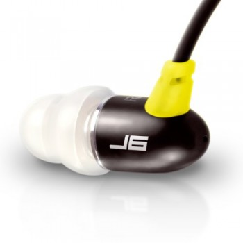 JLab JBuds J6 High Fiedelity Metal Ergonomic Earbuds Style Headphones (Sport Yellow / Black) image