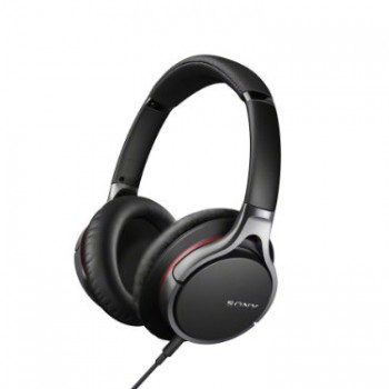 Sony MDR10R Hi-Res Stereo Wired Headphones (Black) image