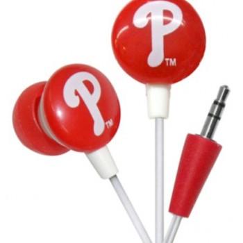 iHip MLF10169PHL MLB Philadelphia Phillies Printed Ear Buds, Blue/Red image