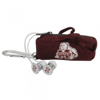 NCAA Mississippi State Bulldogs Scorch Earbuds with Bud Bag image