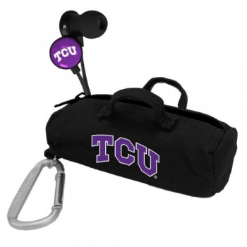 NCAA TCU Horned Frogs Scorch Earbuds with Bud Bag image