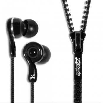 Zipbuds JUICED 2.0 Never Tangle Zipper Earbuds Featuring ComfortFit2 Technology, Black image