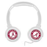 Alabama Crimson Tide Sonic Boom Headphones – White thumbnail