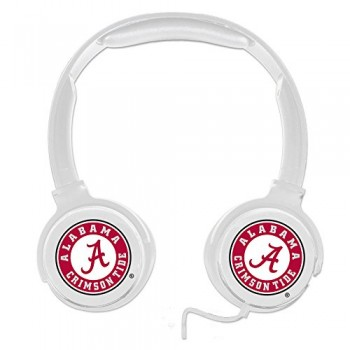 Alabama Crimson Tide Sonic Boom Headphones – White image