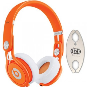 Beats by Dr. Dre Mixr Orange DJ Headphones Carry Pack with Wire Holder image