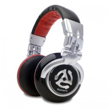 Numark Red Wave Professional Over-Ear DJ Headphones with Rotating Earcup image