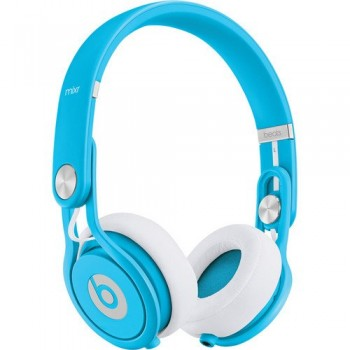 Beats by Dr. Dre Mixr – Lightweight DJ Headphones (Blue) w/Cable with Microphones and Zorrosounds Custom Cloth image