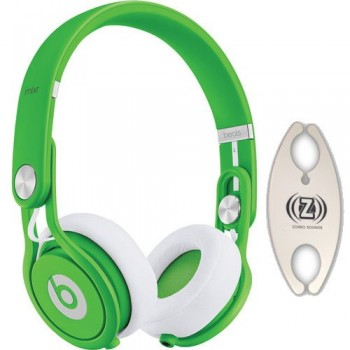 Beats by Dr. Dre Mixr Green DJ Headphones Carry Pack with Wire Holder image