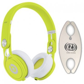 Beats by Dr. Dre Mixr Yellow DJ Headphones Carry Pack with Wire Holder image