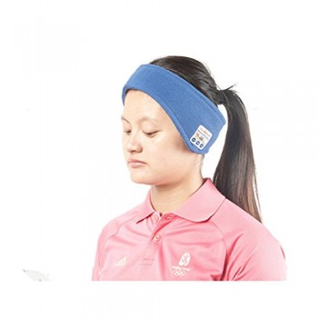 Musicell Bluetooth Sporting Headband Sweatband YOGAband Running Headband Sleep Headphones Bluetooth Sleeping Headset With Microphone for Handsfree Call Answering (Medium Size – One Size Fits Most) image