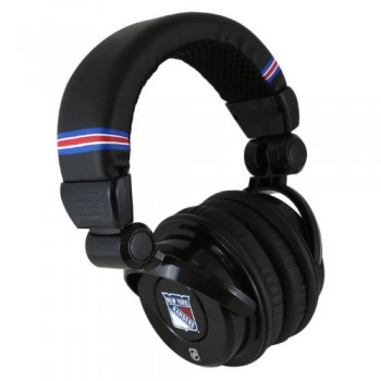 NHL New York Rangers IHIP Pro DJ Headphones with Microphone image