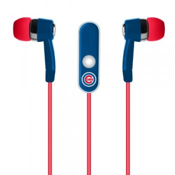 MLB Chicago Cubs Hands Free Ear Buds with Microphone image