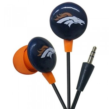 Denver Broncos NFL Team Logo iHip Ear buds (iPod, iPad, iPhone Compatible) image