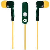 NFL Green Bay Packers Hands Free Ear Buds with Microphone thumbnail