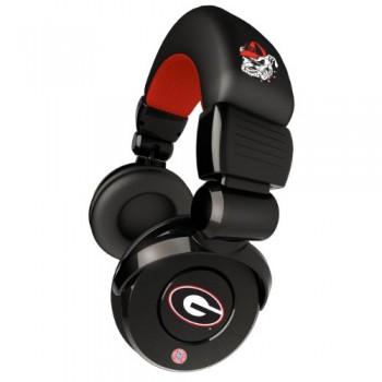 NCAA Georgia Bulldogs Pro DJ Headphones with Microphone image