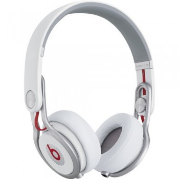 Beats by Dr. Dre Mixr Lightweight DJ Headphones (White) Bundle with Beats Cable with Microphone and Custom Designed Zorro Sounds Cleaning Cloth image